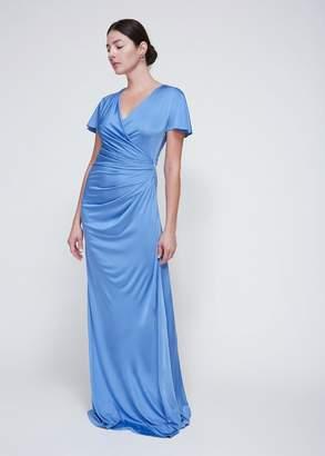 Lanvin Long Ruched Dress