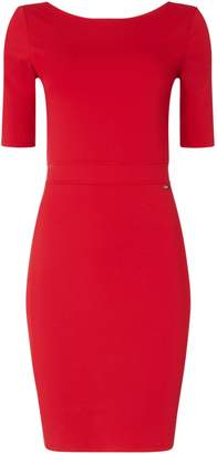 Armani Exchange Short Sleeve Knee Length Dress