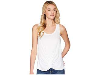 7 For All Mankind Twist Front Racer Tank Top Women's Sleeveless