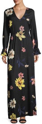 Rachel Pally Jamie Long-Sleeve Floral-Print Maxi Dress $262 thestylecure.com