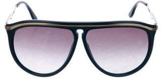 Stella McCartney Gradient Aviator Sunglasses