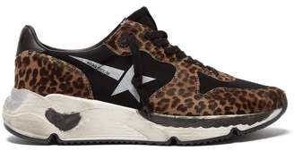 Golden Goose Running Sole Leopard Print Trainers - Womens - Leopard