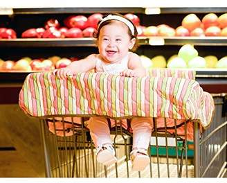 Pam Grace Creations GC-STRIPE STRIPED GROCERY CART COVER - pink, green