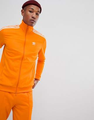 adidas Beckenbauer Track Jacket In Orange DH5821