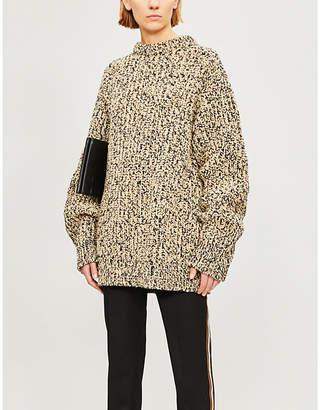 Calvin Klein Oversized multi-knit wool-blend jumper