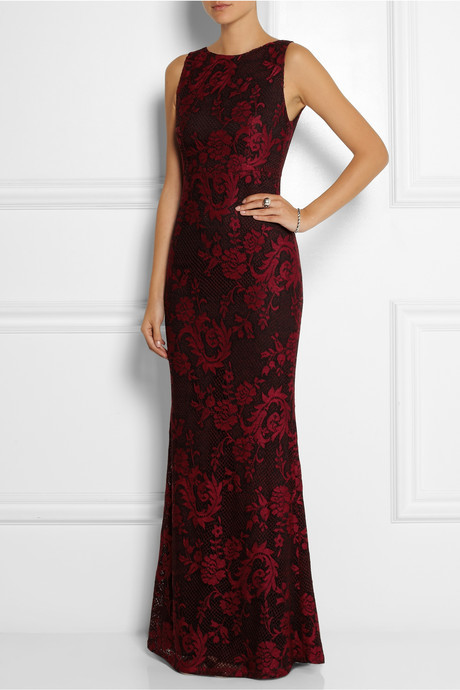 Alice + Olivia Veda open-back floral-jacquard maxi dress