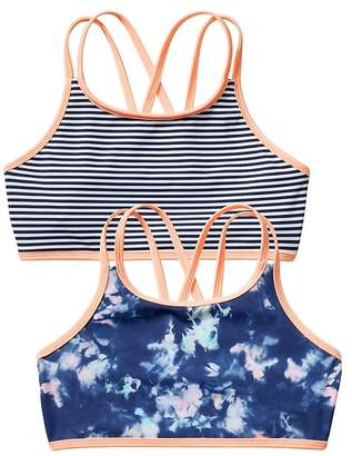 Athleta Girl Tide Dye Reversible Bikini Top
