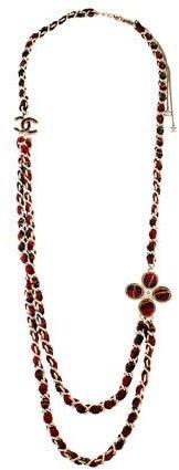 ChanelChanel Paris-Edinburgh Tweed Necklace