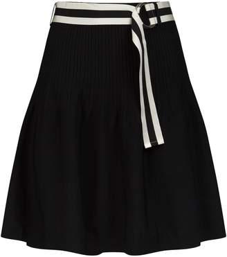 Claudie Pierlot Belted Ribbed Skirt