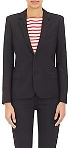 Saint Laurent Women's Twill Two-Button Blazer - Black