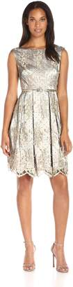 Eliza J Women's Embroidered Lace Fit and Flare