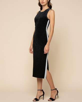 Juicy Couture Metallic Velour Tank Midi Dress