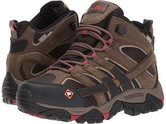 Merrell Work Moab 2 Vent Mid Waterproof SR Women's Work Lace-up Boots