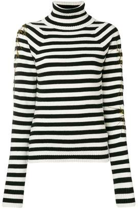 Haider Ackermann striped turtleneck jumper