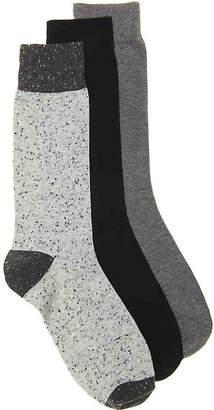 Aston Grey Solid Dress Socks - 3 Pack - Men's