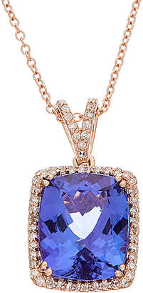 Effy Fine Jewelry 14K Rose Gold 5.11 Ct. Tw. Diamond & Tanzanite Necklace