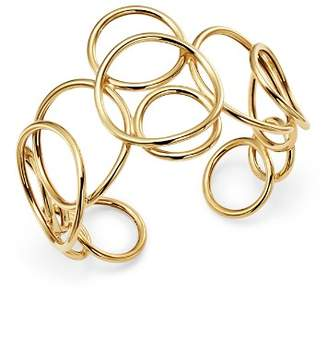 Bloomingdale's Polished Circle Link Cuff in 14K Yellow Gold - 100% Exclusive