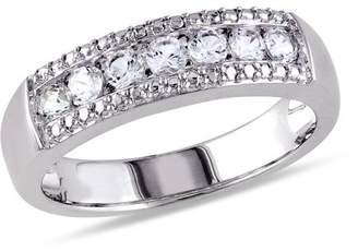 Miabella 5/8 Carat T.G.W. Created White Sapphire Sterling Silver Wedding Ring