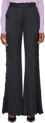 Acne Studios Navy Wide Frill Trousers