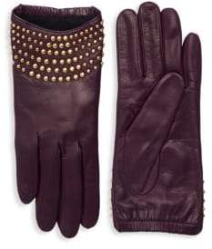 Portolano Studded Leather Gloves
