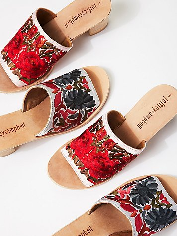 Jeffrey Campbell Riviera Embroidered Mule by Jeffrey Campbell at Free People