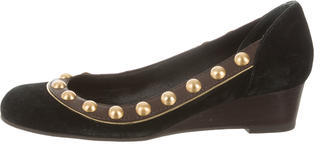 Tory Burch Tory Burch Suede Studded Wedges