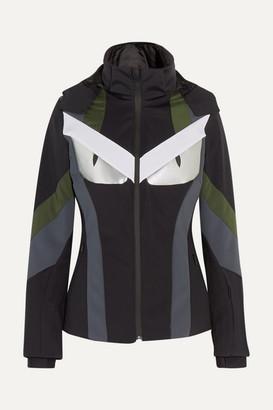 Fendi Wonders Paneled Hooded Ski Jacket - Black