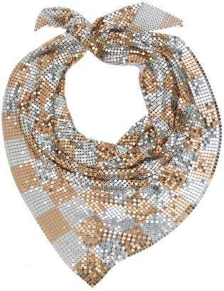 Paco Rabanne check mesh scarf
