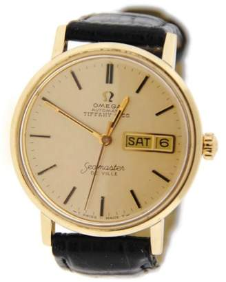 Omega Seamaster DeVille Tiffany & Co Dial Vintage 18K Yellow Gold Mens Watch