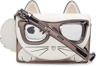Karl Lagerfeld Paris K/Ikonik Choupette Crossbody Bag with Leather