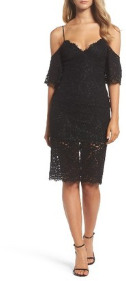 Women's Bardot Karlie Cold Shoulder Lace Dress $119 thestylecure.com