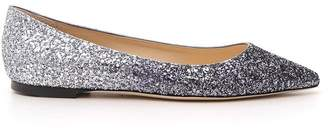 Jimmy Choo Romy Glitter Flat Shoes