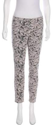 J Brand Mid-Rise Floral Jeans