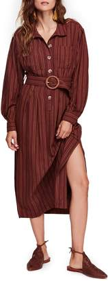 Free People Audrey Stripe Midi Shirtdress
