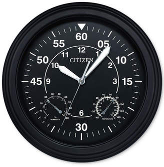 Citizen Outdoor Black Wall Clock