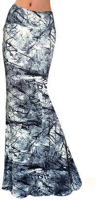 Novia's Choice Novias Women Fashion Tie Dye High Waisted Beach Maxi Skirts Long SkirtXL