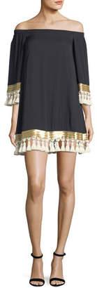 Mestiza New York Cha Cha Off-the-Shoulder Tassel Dress