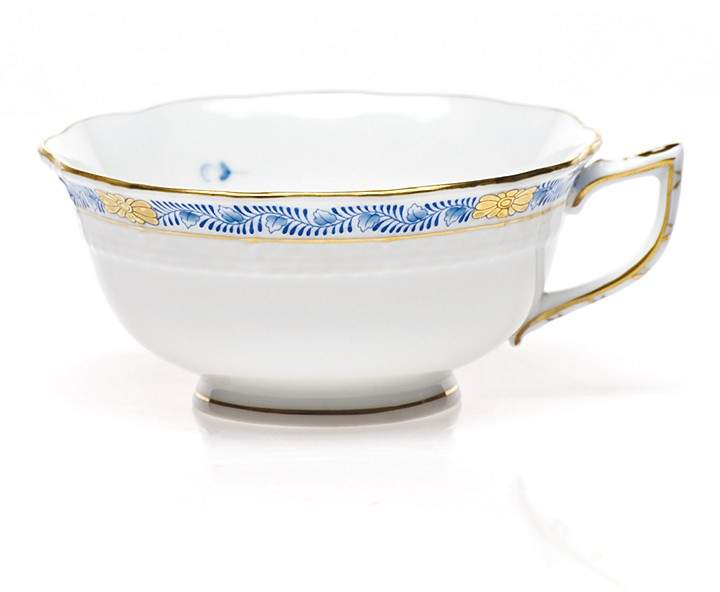 Herend Chinese Bouquet Tea Cup, Garland Blue