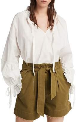 AllSaints Cala Paperbag-Waist Shorts