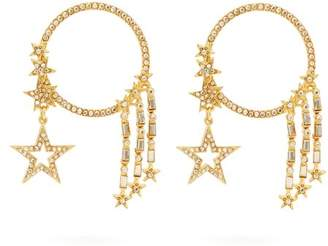 Oscar de la Renta Star Crystal Embellished Earrings - Womens - Gold