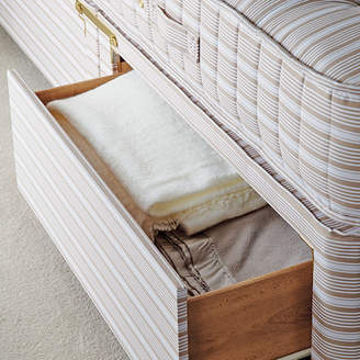 OKA King Divan Bed Base with Drawers - Natural