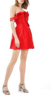Women's Topshop Bardot Ruffle Minidress $110 thestylecure.com