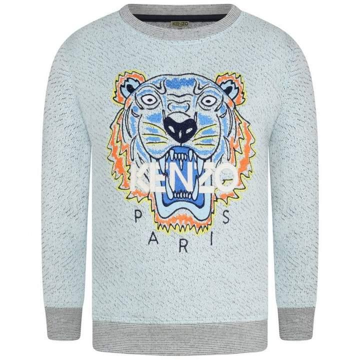 KidsBoys Light Blue Tiger Sweater