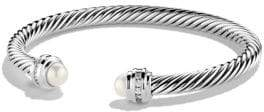 David Yurman Cable Classics Bracelet with Pearls and Diamonds