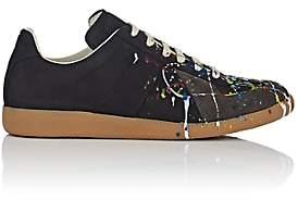 "Maison Margiela Men's ""Replica"" Nubuck & Suede Sneakers - Black"