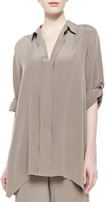 Go Silk Petite Dolman-Sleeve Silk Tunic