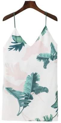 Goodnight Macaroon 'Meghan' Cami V-neck Palm Tree Print Dress