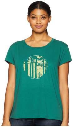 Life is Good Mountain Bike Woods Breezy T-Shirt Women's T Shirt