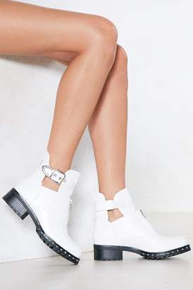 Nasty Gal Read My Zips Faux Leather Boot