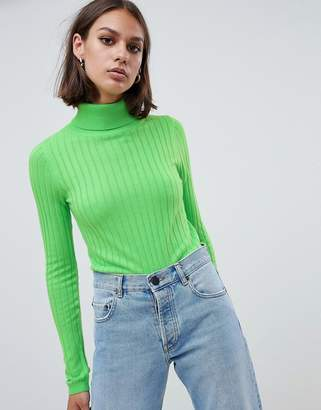 Asos (エイソス) - ASOS DESIGN roll neck crop sweater in rib